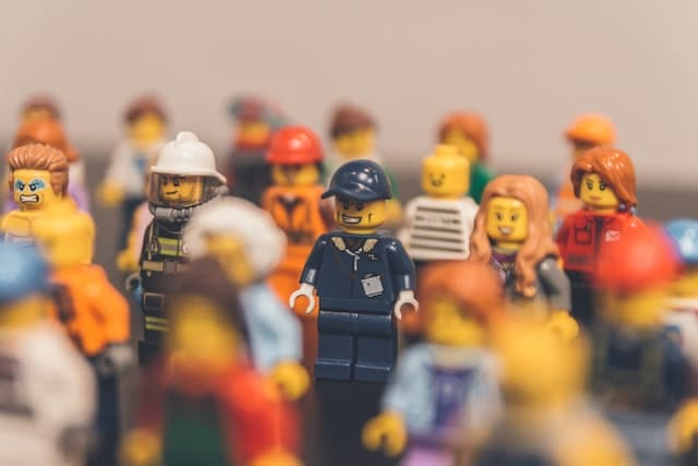 a collection of different lego characters for different personas
